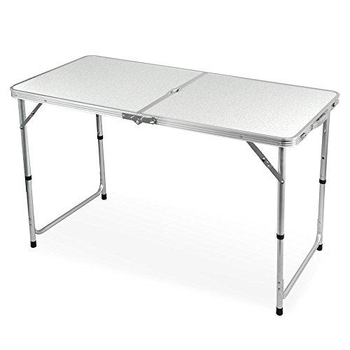 Yahee Campingtisch Klapptisch Gartentisch (Weiß)