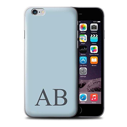 Personalisiert Pastell Monogramm Hülle für Apple iPhone 6 / Korallen Design / Initiale/Name/Text Schutzhülle/Case/Etui Blaues