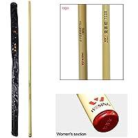 Wesing Wushu - Palo de competición para artes marciales Kung Fu aprobado por IWUF, amarillo, Women 155cm