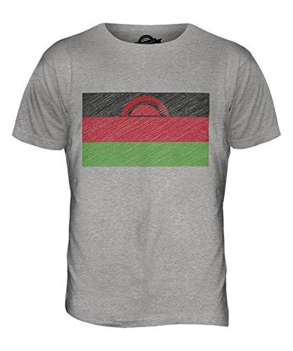 CandyMix Malawi Kritzelte Flagge Herren T Shirt Grau Meliert