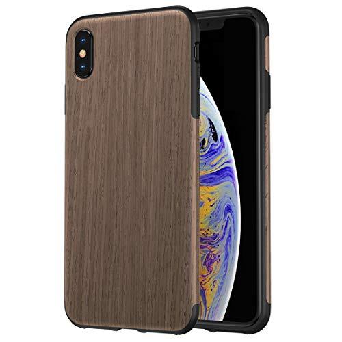 HUANNUOBAIHUO-PHONE CASE TPU-Materialabdeckung Black Rose Wood Texture TPU-Gehäusedesign für iPhone XS max (Hölzerner Telefon-kasten Iphone 4)