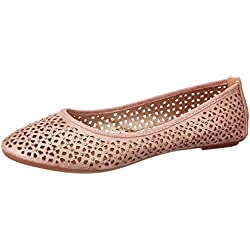 CL by Carlton London Women's Panfila Champagne Ballet Flats - 7 UK/India (40 EU)