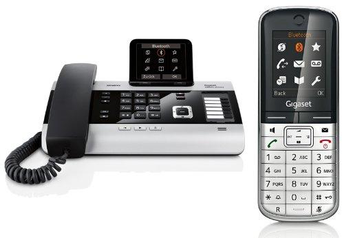 Siemens Gigaset DX800A SET mit 1x SL400H Mobilteil – ISDN, Anrufbeantworter, Bluetooth® ECO DECT