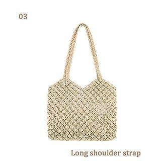 awhao Damen Stroh Handtasche Urlaub böhmischen handgefertigten Woven Totes Strandtasche für den Sommer