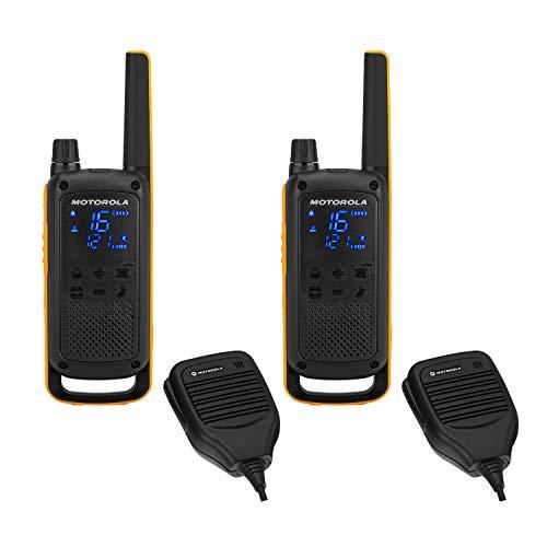 Oferta de Motorola Talkabout T82 Extreme RSM –Alcance hasta 10 Km, pantalla oculta, linterna LED, Walkie Talkie, color negro y amarillo
