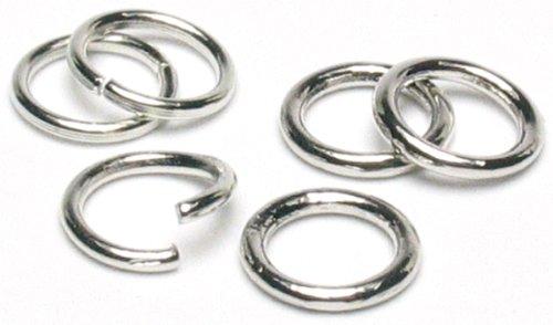 Cousin Jewelry Basics 8mm Öffnen/Schließen Jump Ring, Silber, 200Teile (Jump Programm)