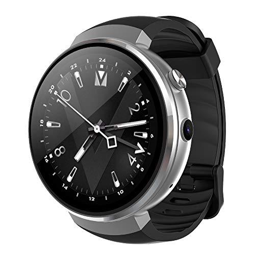 OMZBM Aktualisierte 4G Wifi Bluetooth Smartwatch Touchscreen Mit Android 7.0, Kamera, Übersetzung, GPS, Gesundheits-Monitore Multifunktion Armband Uhr Für Männer Frauen Jugend (Herzfrequenz-monitor-jugend)