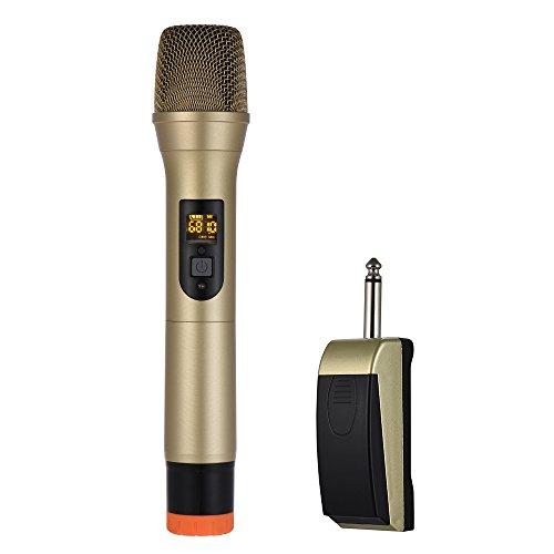 Lepeuxi UHF Handheld Wireless Mikrofon Mic System 48 Kanäle für Karaoke Business Meeting Speech Home Entertainment -