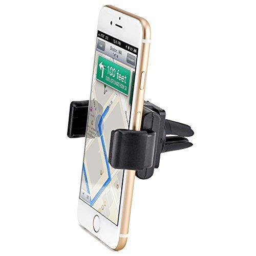 iKross Soporte Universal Para Rejillas De Ventilación de Coche, Soporte de Coche para Smartphone, MP3, GPS y más, Color Negro, IKHD42
