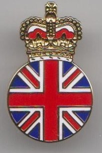 Queen Elizabeth II Broche couronne/Union Jack