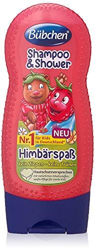Bübchen Kids Shampoo und Shower Himbärspaß, 4er Pack (4 x 230 ml)