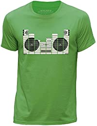 STUFF4 Men's Round Neck T-Shirt/Equalizer/Boom Box/CS