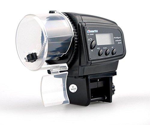 Binnan Dispensador de Comida Alimentador Automático de Peces con Pantalla LCD para Acuario