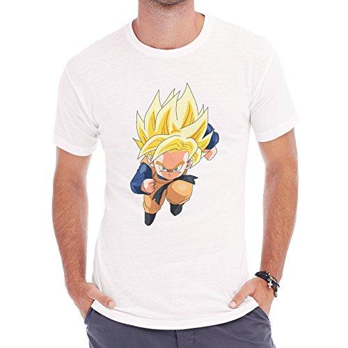 Dragon Ball Super Goten Running Saiyan Determined Herren T-Shirt Weiß
