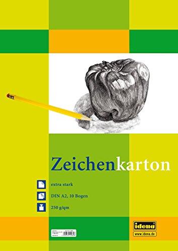 Preisvergleich Produktbild Idena 212065 Zeichenkarton extra stark, DIN A2, 250 g / m², 10 Bogen