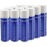 12 Dosen Sprühkleber a 500ml Dose, kräftiger Kleber Spraydose mit Dosierventil, geruchsarm und transparent