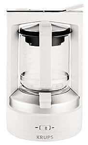 krups km468210 t8 2 cafeti re vapo pression blanc cuisine maison. Black Bedroom Furniture Sets. Home Design Ideas