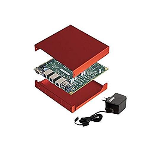 NRG Systems APU2D4 Bundle (Board, Netzteil, rotes Gehäuse, 16GB mSATA SSD)
