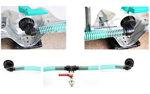 IBC Tankverbinderset FLEX für 2 Tanks mit Auslaufhahn 3/4