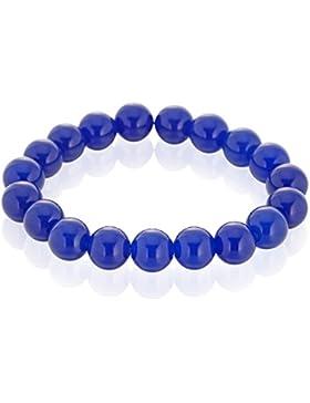 Llords Schmuck   tibetische Gebetsperlen buddhistisches Armband, heilende Kristalle, blauer Achat