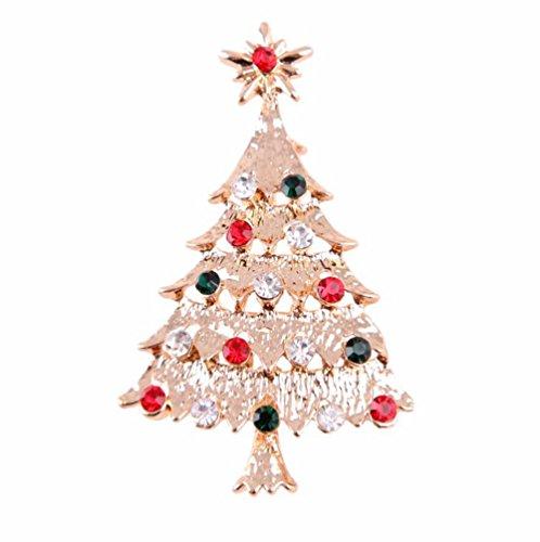 Hosaire Broche de navidad diseño de árbol de navidad bisutería broche de...