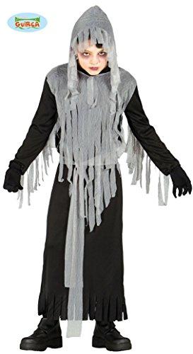 Geister Sensenmann Kostüm für Kinder Senseman Geist Halloween Horror Halloweenkostüm Kinderkostüm Gr. 98-146, Größe:140/146