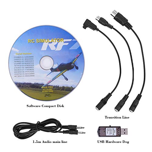 Alomejor USB Flight Simulator 22 in 1 RC USB Flight Simulator Adapter Kabel für Realflight Phoenix XTR G4 G5 Aero Fly/FMS -
