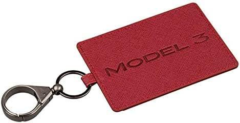 Bleu Volwco Tesla Model 3 Porte-Cartes en Cuir pour Valet et Porte-cl/és