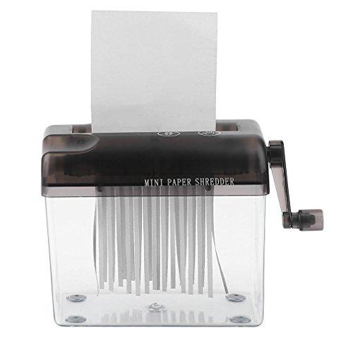 Bemodst® pratico mini small desktop manuale distruggidocumenti taglio a mano per carta a4, bollette