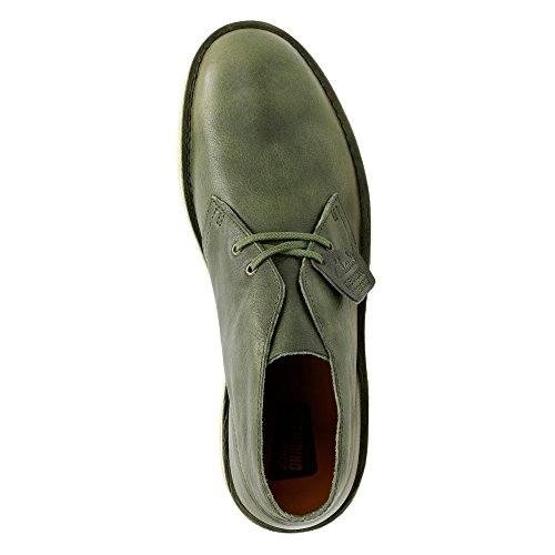 Clarks Desert Boot Mens Green Leather