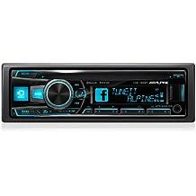 Alpine CDE-185BT - Radio para coches (200 W, 5 - 20000 Hz, sintonizador CD, pantalla LCD, USB, con Bluetooth, Front AUX-In), negro