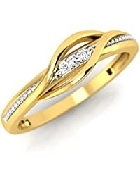 Pristine Fire Yellow Gold and Diamond Ring for Women
