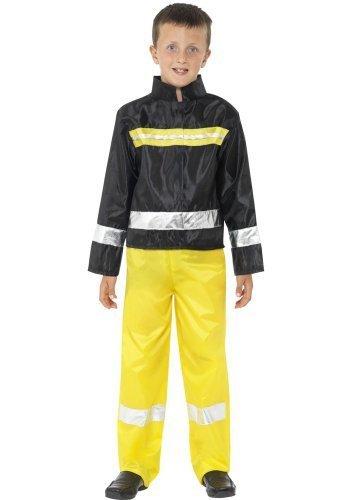 Uniform Notfall Services Hero Helden & Bösewichte Verkleidung Kostüm Kleid Outfit 4-12 Jahre - schwarz/gelb, 7-9 Years (Helden Und Bösewichte Kostüme)