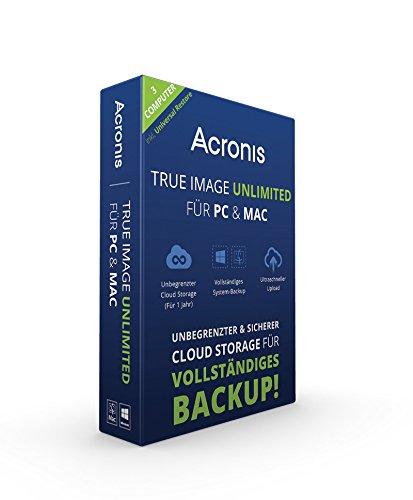 Acronis True Image Unlimited für PC & Mac - 3 Computer