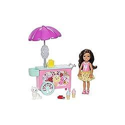 Barbie Fdb32 Club Chelsea Ice Cream Cart Doll & Playset
