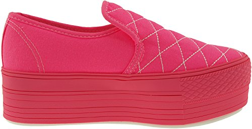 Maxstar  C50-Stitch,  Damen Sneaker Low-Tops All-Neon Pink