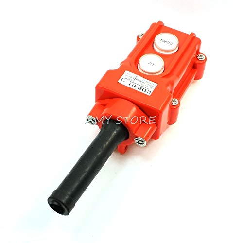 DIPU WULIAN (1 Rainproof for Truck Hoist Crane Pendant Control Station Push Button Switch UP-Down COB-61 AC250V 5A Button-station