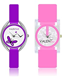 Valentime Analogue Multicolor Dial Women's Watch - W07-02-08-COMBO-B