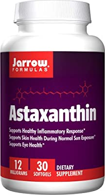 Jarrow Astaxanthin promotes a healthy inflammatory response 12mg (30 softgels 12mg) by Jarrow FORMULAS