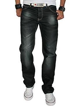 Rock Creek Herren Designer Jeans Wachsbeschichtung Coated Stonewash RC-2064