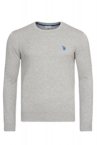 U.S. POLO ASSN. Rundhals Sweater Herren Pullover Sweatshirt Grau 173 42965 51894 280, Größenauswahl:M (Us Polo Herren Jeans)