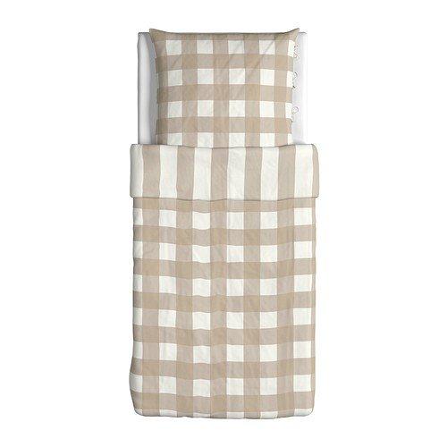 Charmant IKEA EMMIE RUTA U0027Bed Linen Set Bed Sheet Set 140 X 200 Cm And 80 X 80 Cm  Weiss/Beige U2013 Ribbon U2013 100% Cotton U2013 12 Count, Beige/Weiß, ...