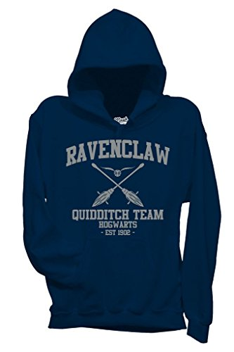 MUSH Sweatshirt Ravenclaw Quidditch Harry Potter - Film by Dress Your Style - Damen-S-Blau
