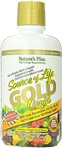 Natures Plus - Source Of Life Gold liquid Ultimate Multi-Vitamin Delicious Tropical Fruit Flavor - 30 oz