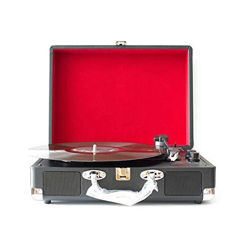 Haut-parleur sans fil Bluetooth Platine vinyle portable Vintage vinyle multi-fonctionnel phonographe tourne-disque Bluetooth haut-parleurs valise platine avec Bluetooth Home Décoration cadeau fête des