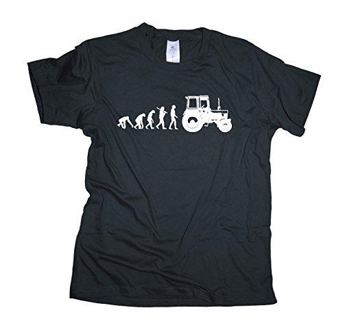 Traktor Regular Rundhals Herren Evolution T-Shirt BC150-dark_grey-s