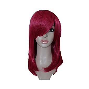 Katarina Perruque Cosplay Punk Cheveux Accessoires Longue Rouge Wig