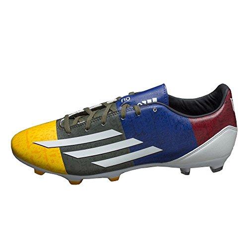 Adidas - F10 FG Messi - M21764 - Couleur: Bleu-Graphite-Jaune - Pointure: 46.6