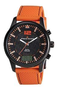 Precision Herren-Armbanduhr analog-digital Silikon Orange PREW1111