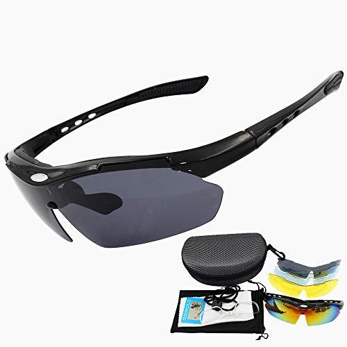 ZKAMUYLC SonnenbrillePolarisierte Brillenglas Brillen Fahrradbrillen Outdoor Sports Fahrrad Sonnenbrillen UV400 Laufbrillen Radfahren Brillen Sonnenbrillen